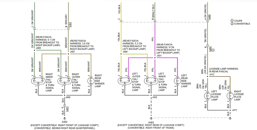 rear lighting wiring diagram