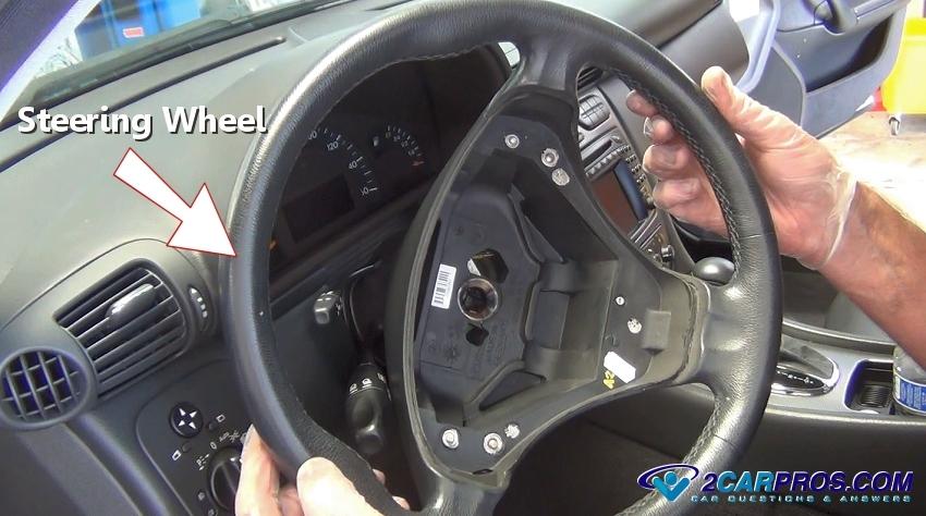 Steering Wheel Removed on Mitsubishi Galant Airbag