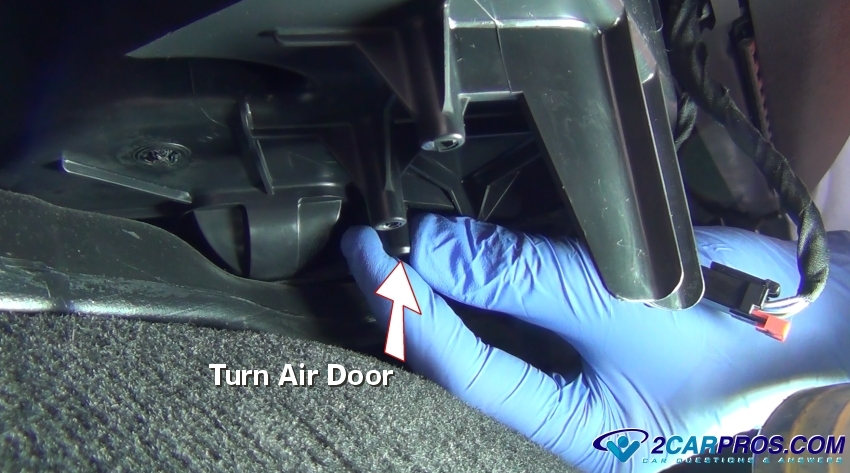 Turn Blend Door Pivot on 2003 Lincoln Ls Control Arm