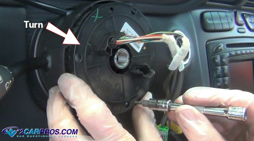 turn steering wheel clock spring how to remove an airbag clock spring in under 30 minutes  at aneh.co