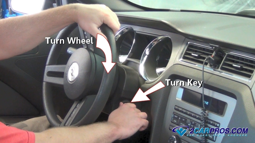 Turn Wheel Key on Power Steering Pressure Switch