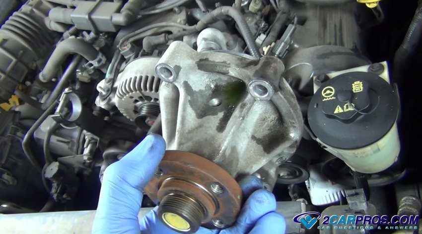 Water Pump Leaking on Dodge Ram Engine Block
