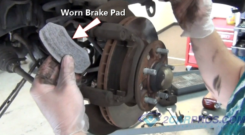 Car Break Pads Worn : Car repair world how to replace front brake pads and