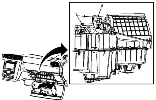 Recirculation Blend Door Actuator Location on 2011 Gmc Terrain Parts Diagram