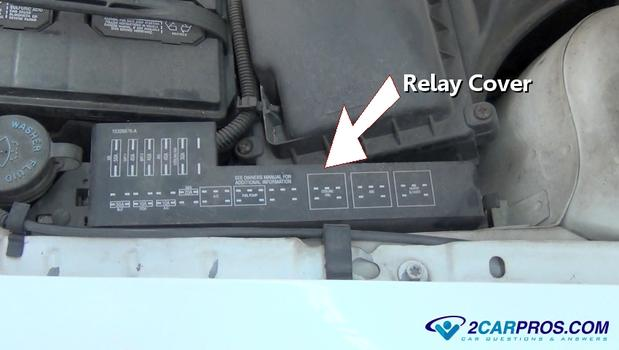 Relay Cover on 2002 nissan maxima fuel pump relay location