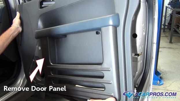 power window motor and regulator removal