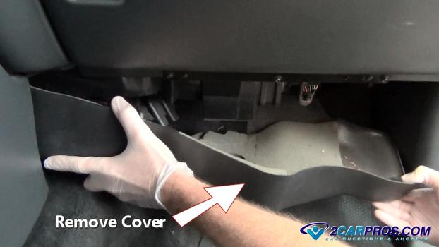 Remove Under Dash Cover on 2000 Silverado Blower Motor Replacement