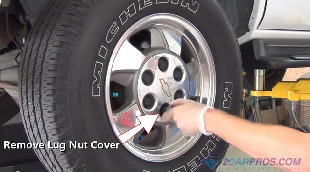 Lug nut cover removal