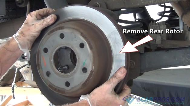 Rear Brake rotors removal