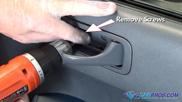 how to remove car door panel