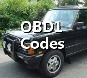 Step by Step Code Retrieval Definitions OBD1 Range Rover