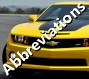 Abbreviations For Automotive Terms