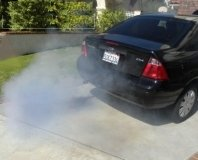 Troubleshoot and repair blue exhaust pipe smoke