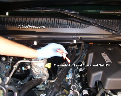 Locate and Remove Automatic Transmission Level Dip Stick