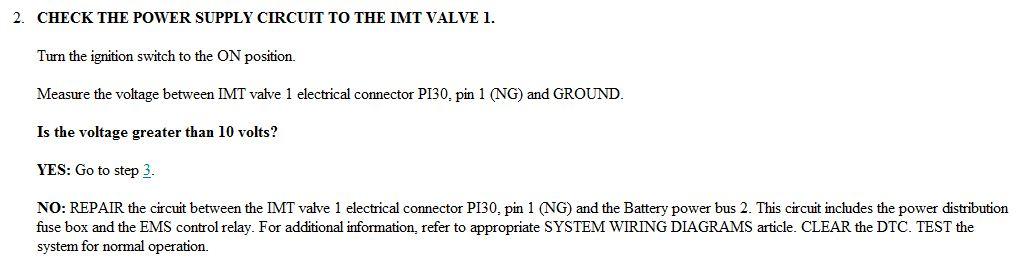 original p1549 intake manifold temperature valve actuator connection  at gsmportal.co