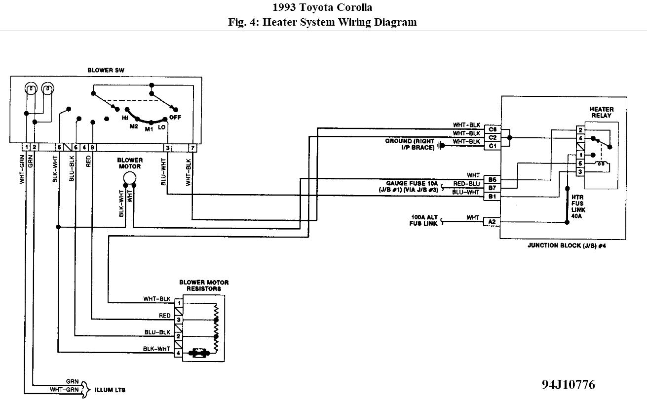 Toyota Heater Blower Motor Wiring Diagram Schematic | Wiring ... on