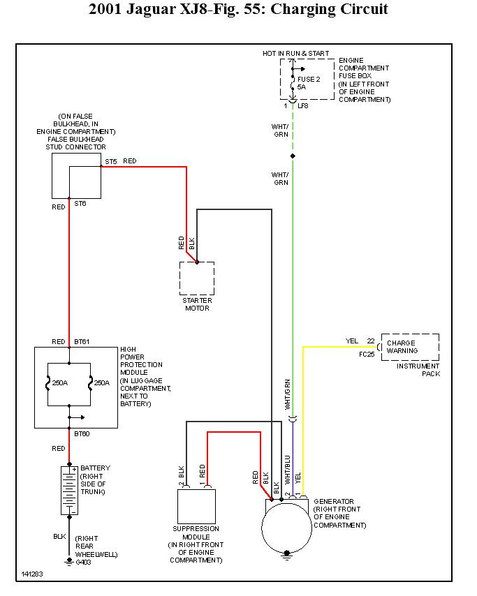 original alternator not charging please identify fuses, fuseable link, 1999 jaguar xj8 wiring diagrams at aneh.co