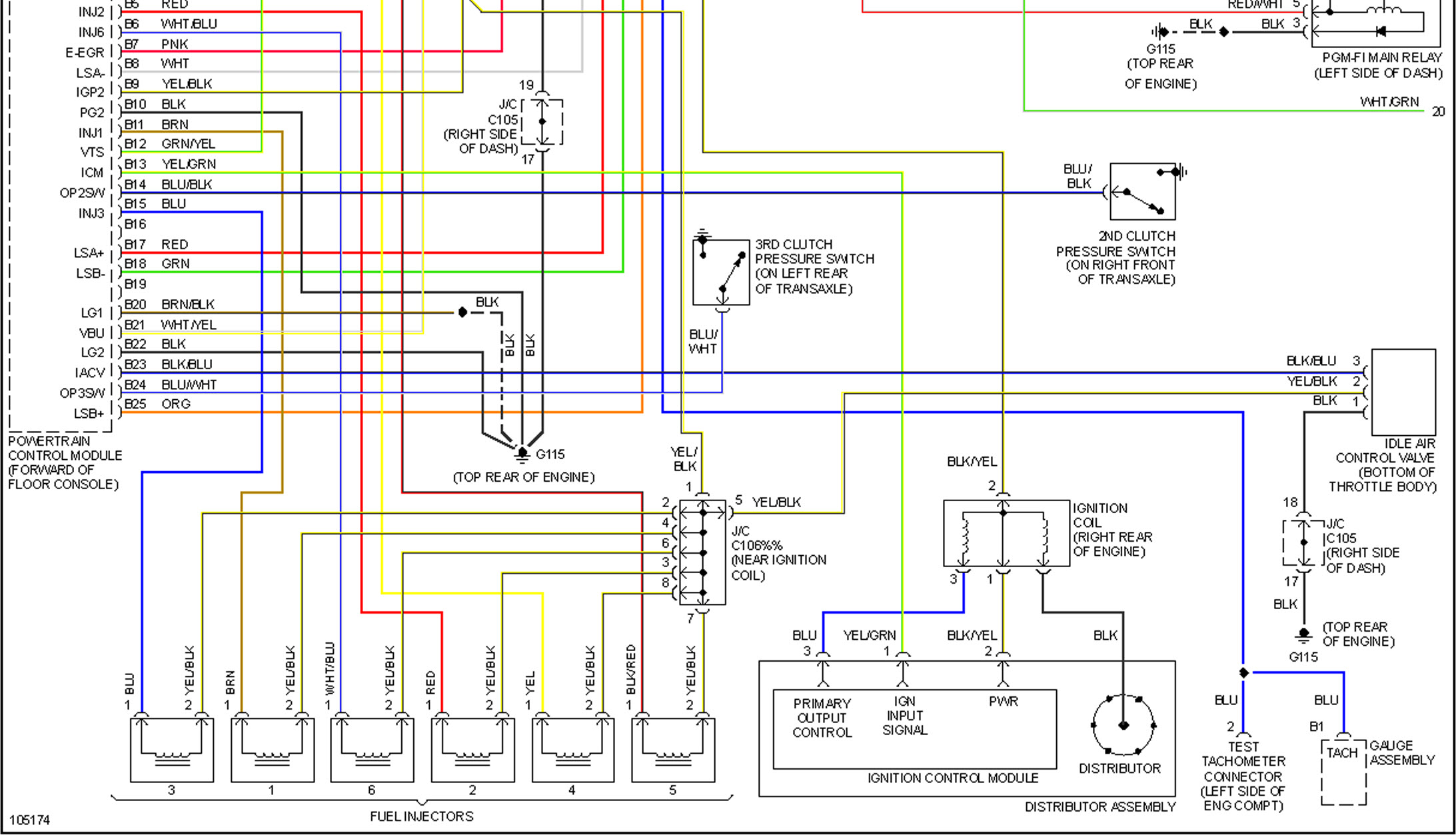 will not start: honda accord 1998, 120,000 miles, honda ... 2004 honda accord radio wiring diagram #4