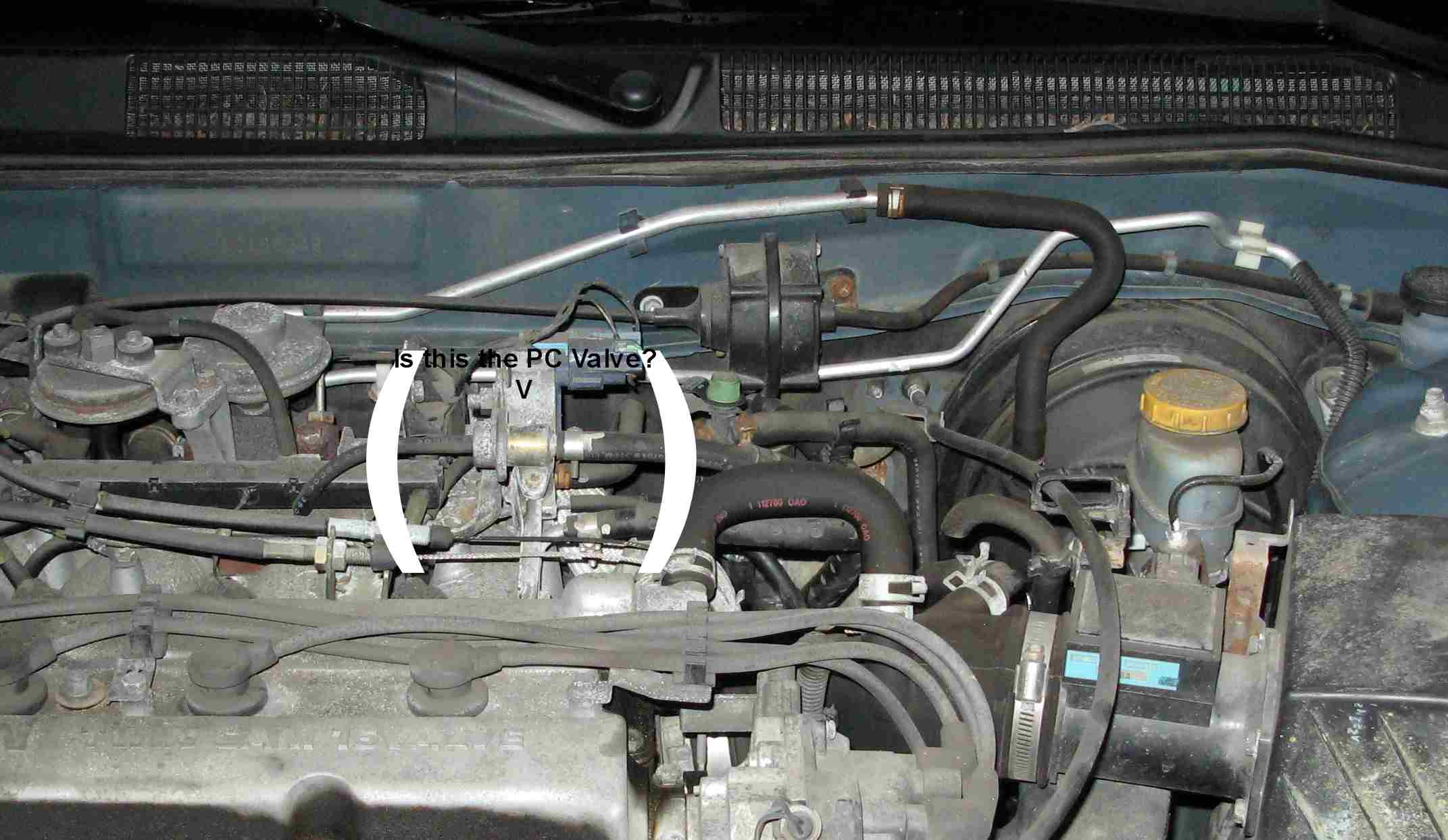 PCV valve location