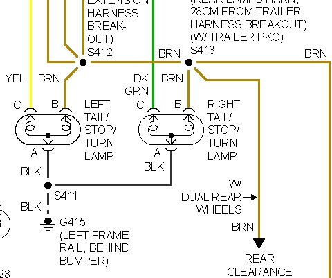 brake lights not working my brake lights do not work the 2001 GMC Brake Light Wiring Diagram Gmc Brake Light Wiring Diagram #12
