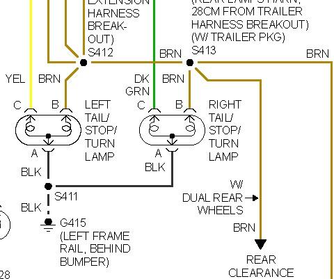 89 chevy truck tail light wiring diagram brake lights not working: my brake lights do not work. the ... 1990 chevy truck tail light wiring diagram #13