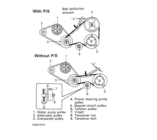 need a diagram for the serpentine belt for 1999 suzuki esteem attached image