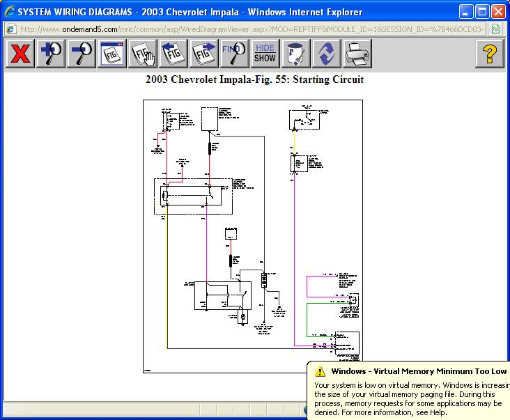 Need Simplified Circuit Diagram  Car Is 2003 Impala  3 8