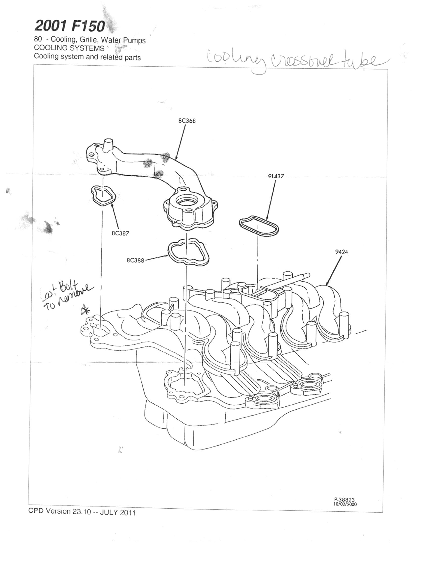5 4 Triton Engine Diagram Cooling Engine Auto Parts