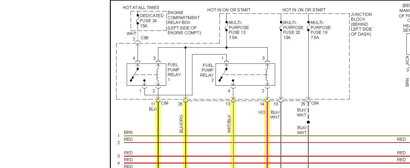 original no power to the fuel pump relay 2000 mitsubishi galant fuse box diagram at crackthecode.co