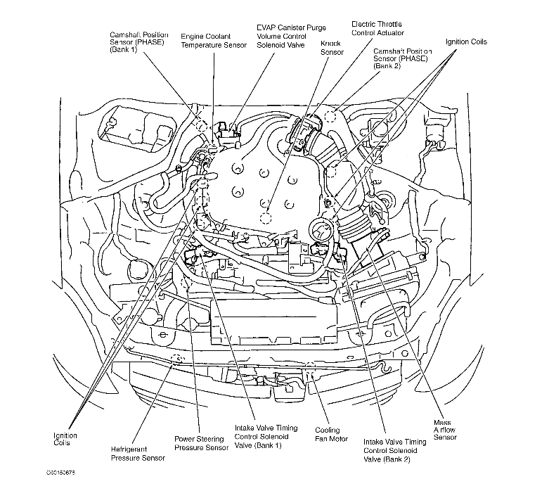 infiniti g35 engine diagram knock sensor location: where is the knock sensor located ...
