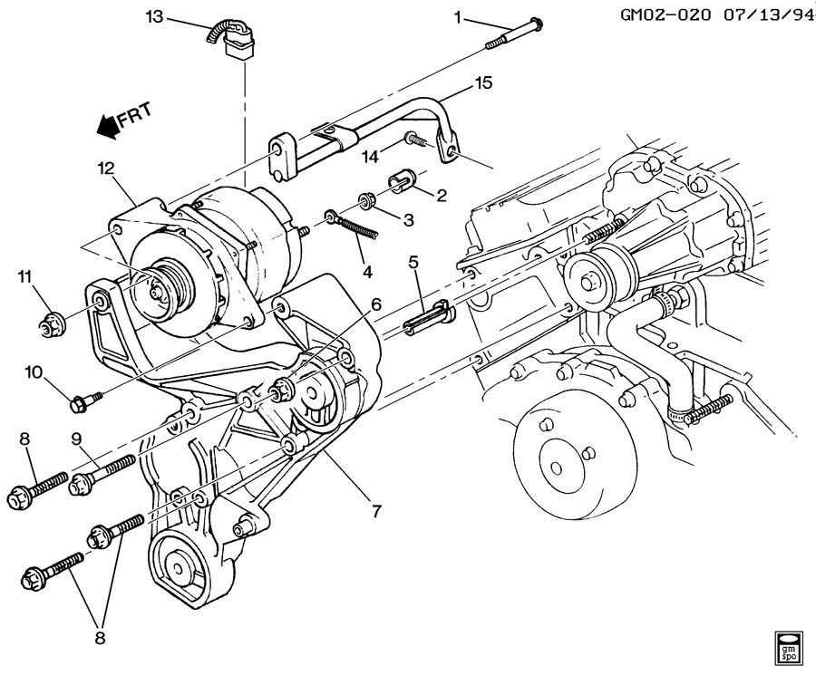 service manual  1992 buick park avenue power steering belt