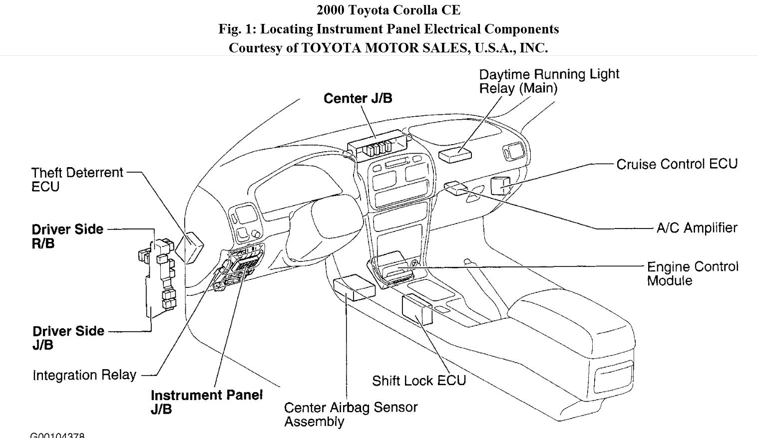 Toyota Corolla 1999 Ecu Location on 1992 toyota tercel wiring diagrams