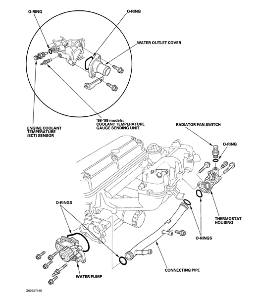 honda accord cooling system diagram