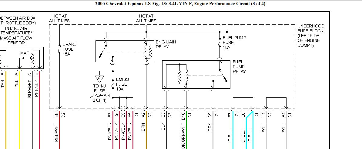 05 Equinox  Need Wiring Diagram For A 05 Equinox Fuel Pump Relay