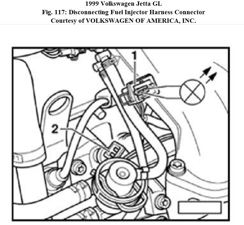 No Signal To Fuel Injectors  1  1999 Jetta  Gas  No Signal To