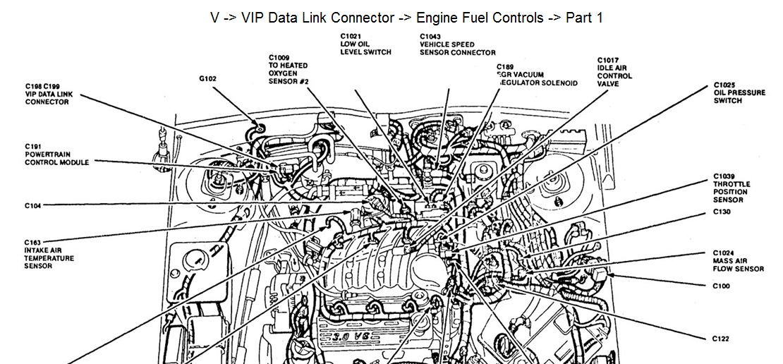mercury sable transmission diagram