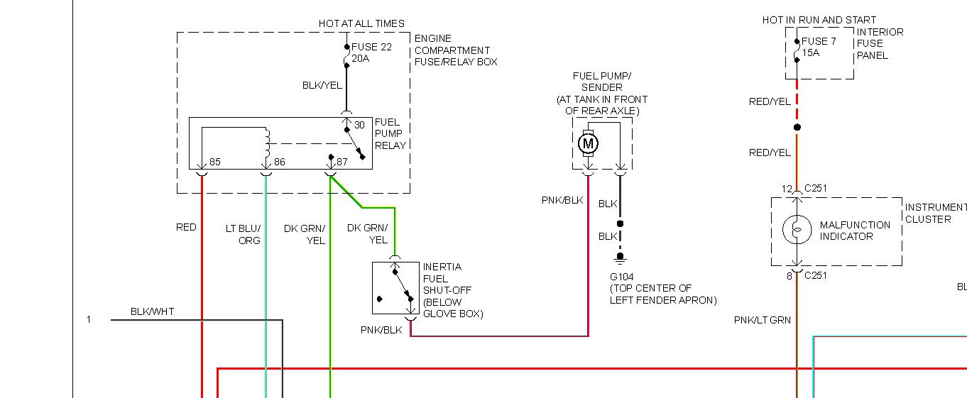 solved wiring diagram for 1994 ford ranger fuelpump from fixya rh fixya com Ford Electrical Wiring Diagrams 1989 Ford F-250 Wiring Diagram