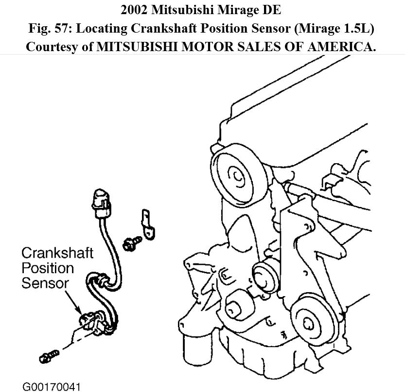 1997 Mitsubishi Mirage Camshaft: What Are The Step To Replace The Crankshaft Sensor On The 1.5