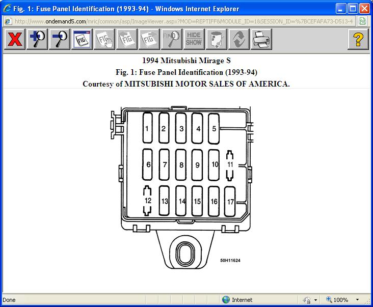[NRIO_4796]   94 Mit Mirage Inside Fuse Box Diagram: Just Purchased Car 1994 Mit... | 94 Mitsubishi Mirage Fuse Box |  | 2CarPros