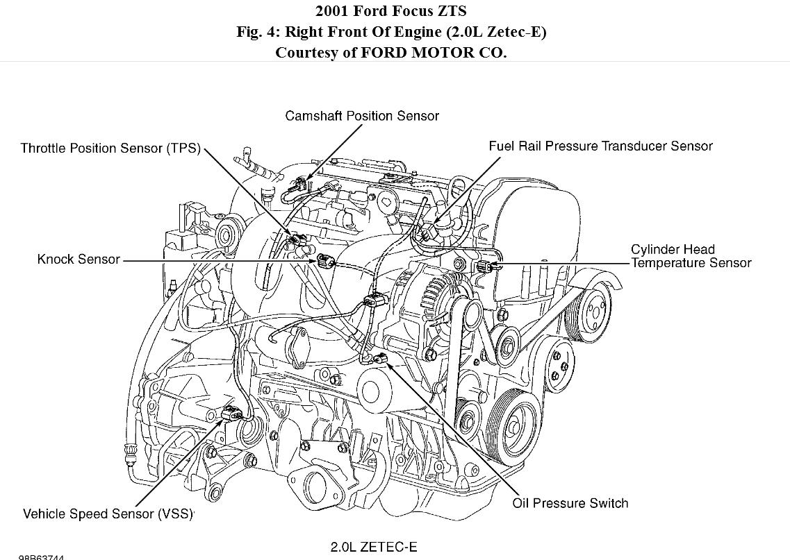 Do You Know Where The Coolant Temp Sensor Is Located? 2007 Ford Focus  Engine Diagram Ford 2 0 Zetec Engine Diagram