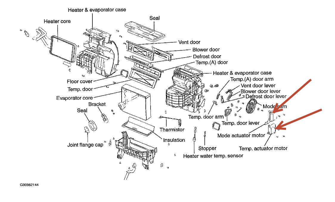 2006 sonata heater core diagram