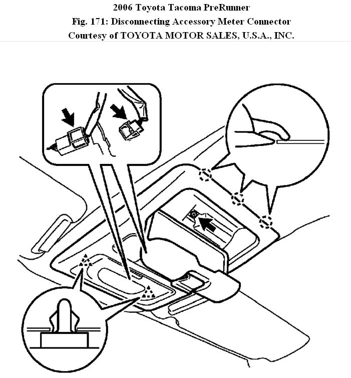 Overhead Console  How Do You Remove The Console On A 2006