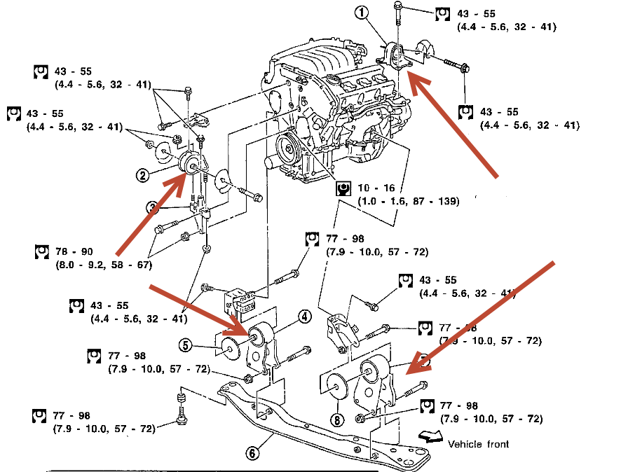 how many engine mounts and transmission mounts are on a 02 ... 2003 infiniti m45 engine diagram infiniti i35 engine diagram