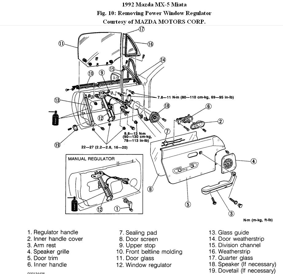 Mazda Miata Engine Diagram Schematics Wiring Diagrams 1995 Mx5 Electrical Original Window Regulator Block And Schematic U2022 Rh Lazysupply Co 18 1996