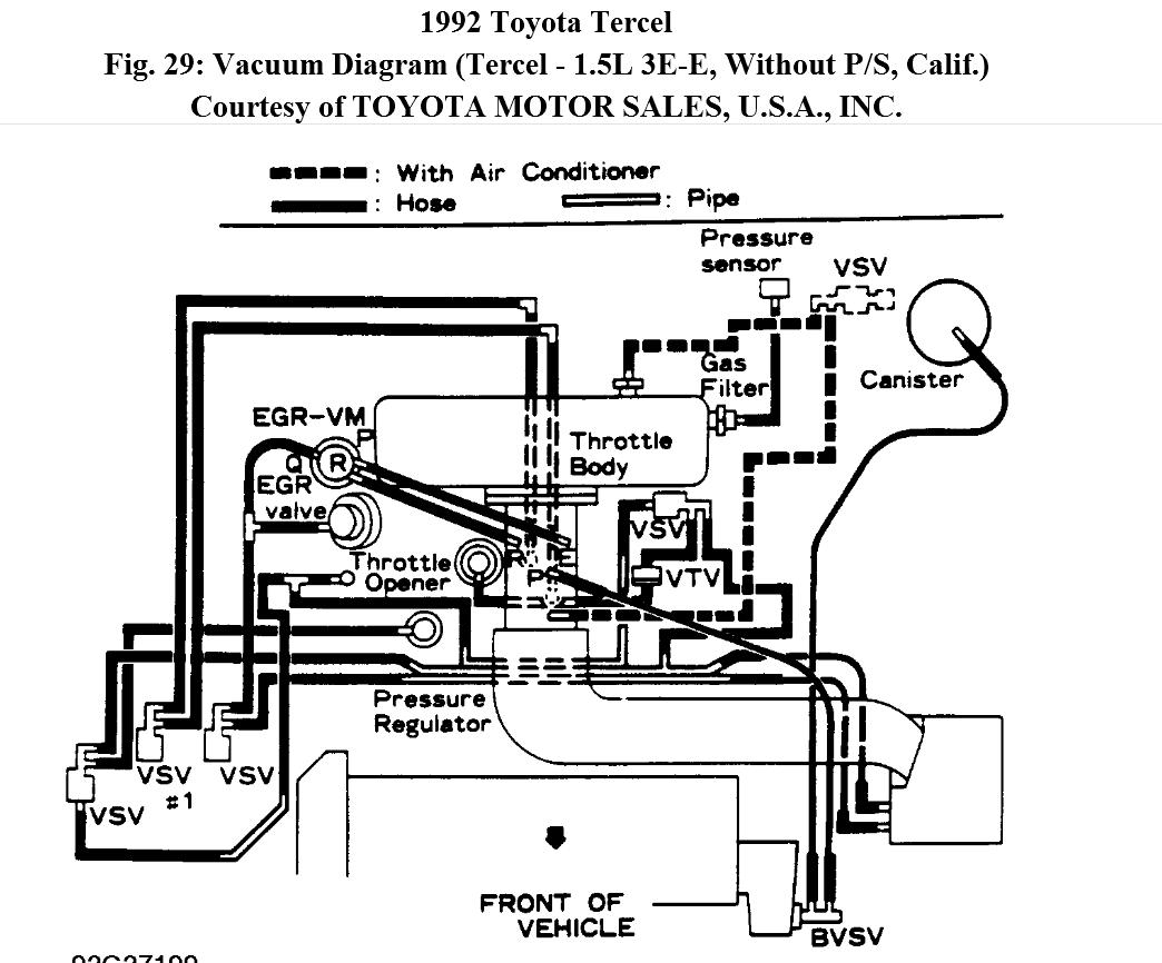 service manual  95 toyota tercel engine diagram