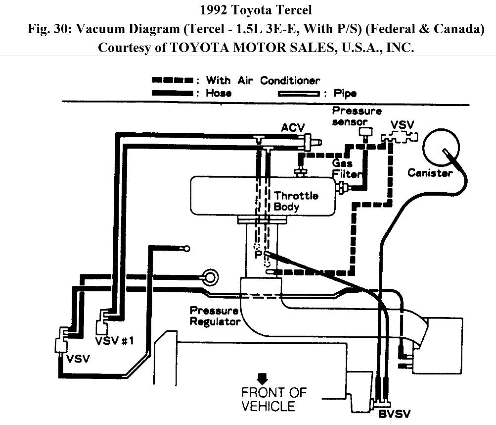 Manifold Intake Diagram For Tercel 1992 E3