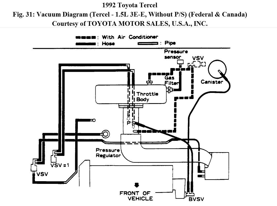 toyota tercel engine diagram lukewarm air from heater