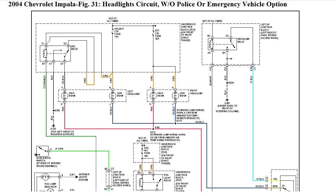 2000 Impala Headlight Plug Wiring Diagram wiring