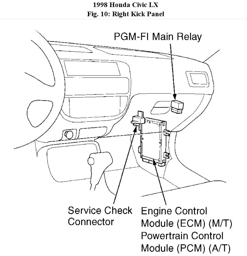 1998 civic engine diagram