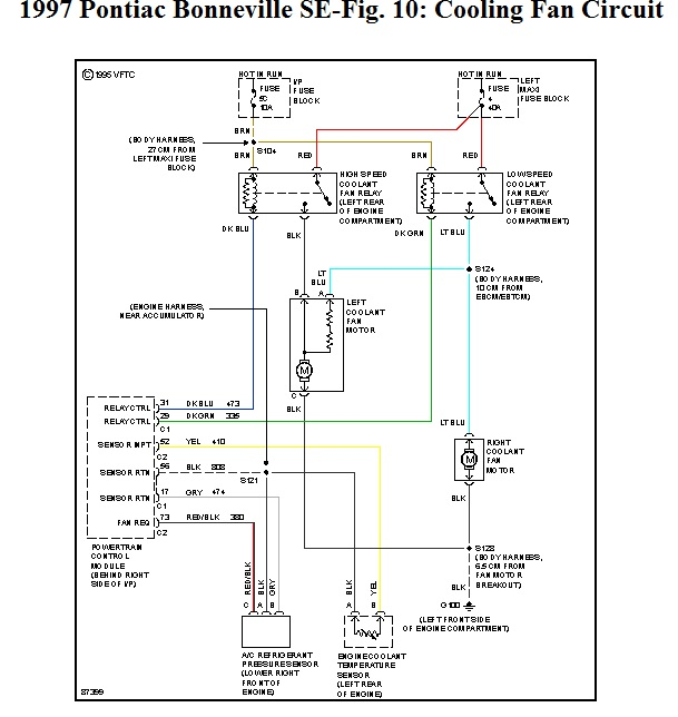 97 pontiac bonneville engine diagram wiring diagram libraries i need a diagram for a u002797 bonneville cooling fan relay u0027s the vin97